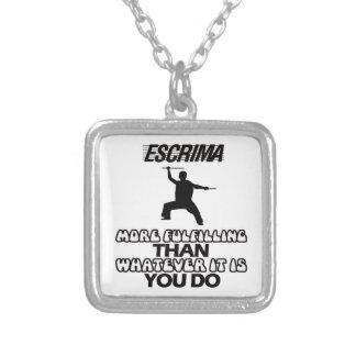 escrima Designs Silver Plated Necklace