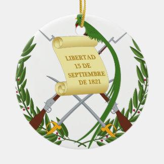 Escudo de armas de Guatemala - Coat of arms Ceramic Ornament