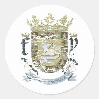 Escudo Urbano (khaki) Classic Round Sticker