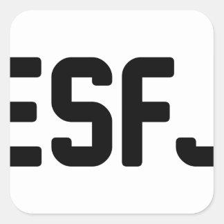 ESFJ SQUARE STICKER