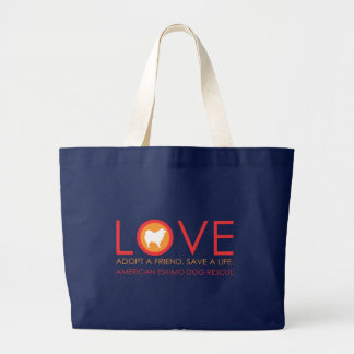 Eskie LOVE Jumbo Tote Dark2