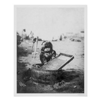 Eskimo Child Alaska 1905 Poster