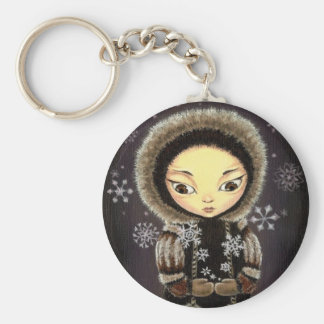 Eskimo girl key ring