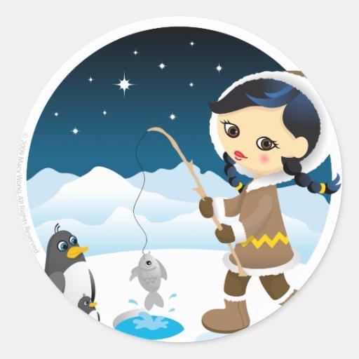 Eskimo girl sticker