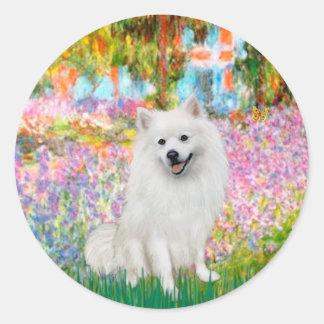 Eskimo Spitz 1 - Garden Classic Round Sticker