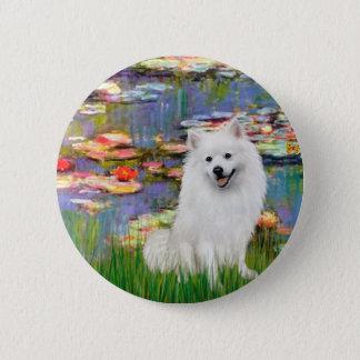 Eskimo Spitz 1 - Lilies 2 6 Cm Round Badge