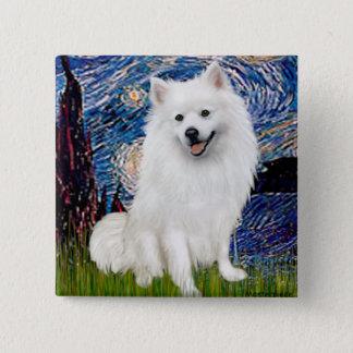 Eskimo Spitz 1 - Starry Night (Vert) 15 Cm Square Badge