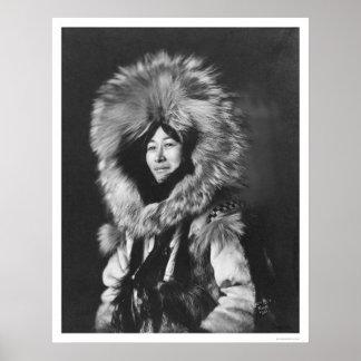 Eskimo Woman Wearing Fur Coat 1915 Poster