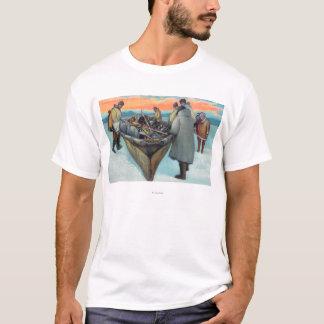 Eskimos Launching Whaling Boat T-Shirt