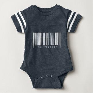 ESL Teacher Barcode Baby Bodysuit