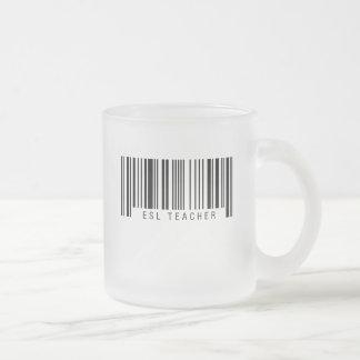 ESL Teacher Barcode Frosted Glass Coffee Mug