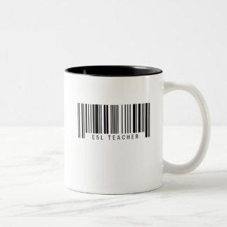 ESL Teacher Barcode Two-Tone Coffee Mug