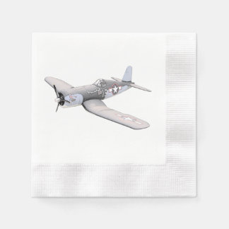 ESM F-4U Corsair airplane Pencil Style Drawing Paper Serviettes