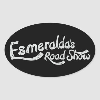 Esmeralda's Roadshow Official Oval Sticker