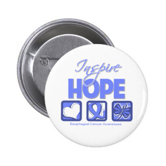 Esophageal Cancer Inspire Hope Pinback Button