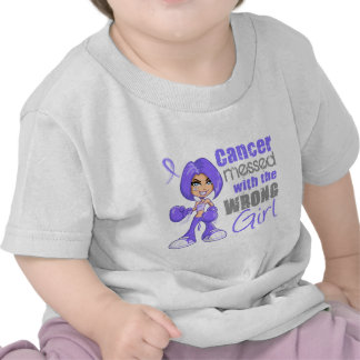 Esophageal Cancer Messed With Wrong Girl T Shirts