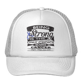 Esophageal Cancer Strong is The Only Choice Trucker Hat