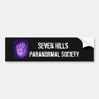 esp, Seven Hills, Paranormal Society Bumper Sticker