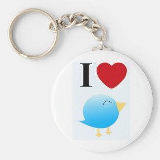 espalhando loves's twitt basic round button key ring