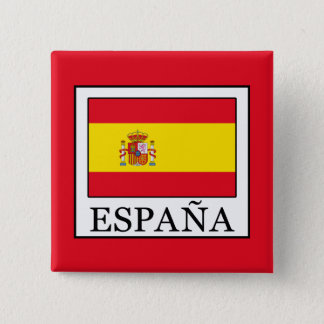 España 15 Cm Square Badge