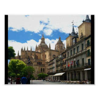 Espana Castle Street Poster - Made in the USA