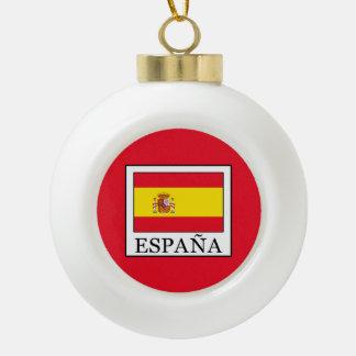 España Ceramic Ball Christmas Ornament