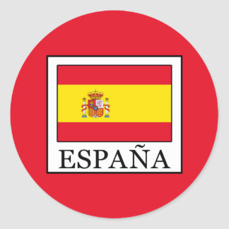 España Classic Round Sticker