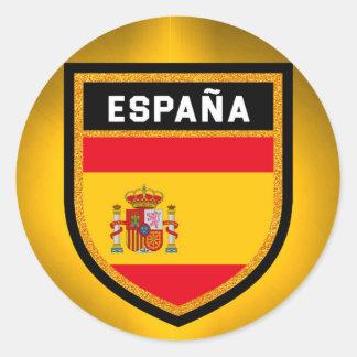 España Flag Classic Round Sticker