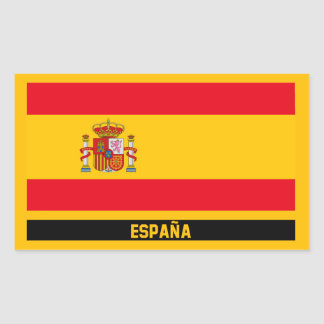 España Flag Rectangular Sticker