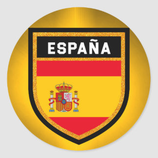 España Flag Round Sticker