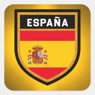 España Flag Square Sticker