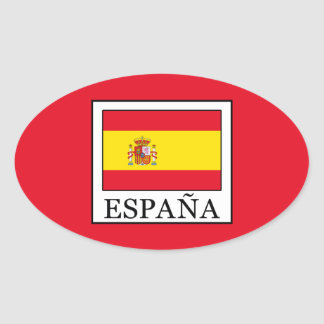 España Oval Sticker
