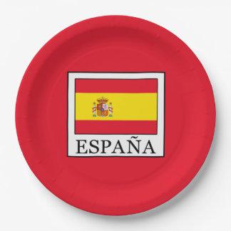 España Paper Plate