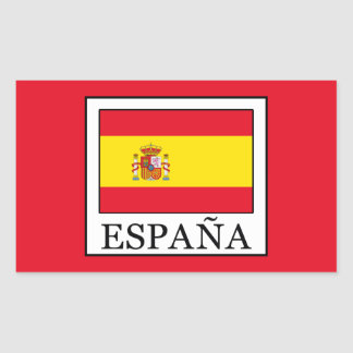 España Rectangular Sticker