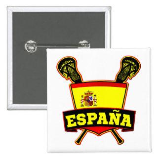 España Spain Lacrosse Pinback Button