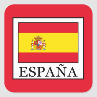 España Square Sticker