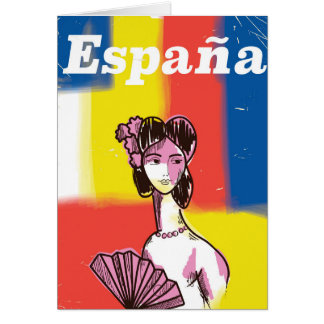 España vintage travel poster card