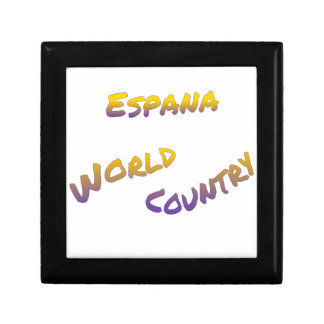 Espana world country, colorful text art gift box