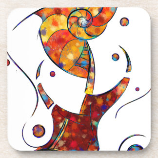 Espanessua - imaginery spiral flower beverage coasters