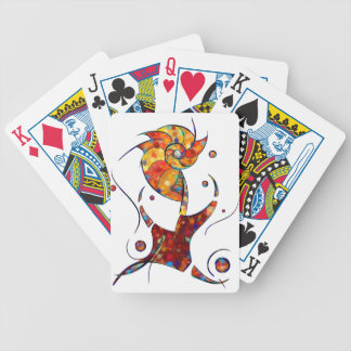 Espanessua - imaginery spiral flower bicycle playing cards