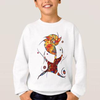 Espanessua - imaginery spiral flower sweatshirt