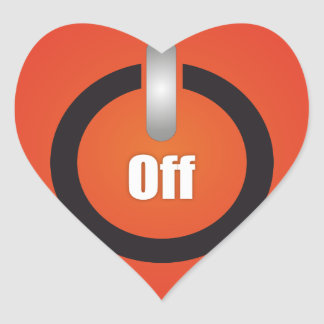 Esperanissa - switch off heart sticker