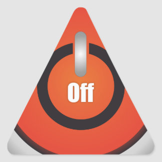 Esperanissa - switch off triangle sticker