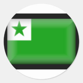 Esperanto Flag Classic Round Sticker