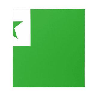 esperanto-Flag Notepad