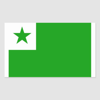 Esperanto flag rectangular sticker
