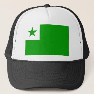 Esperanto flag trucker hat