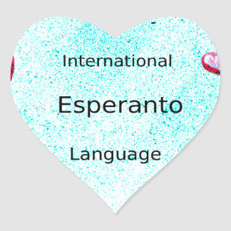 Esperanto International Language Design Heart Sticker