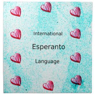 Esperanto International Language Design Napkin