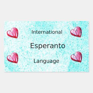 Esperanto International Language Design Rectangular Sticker